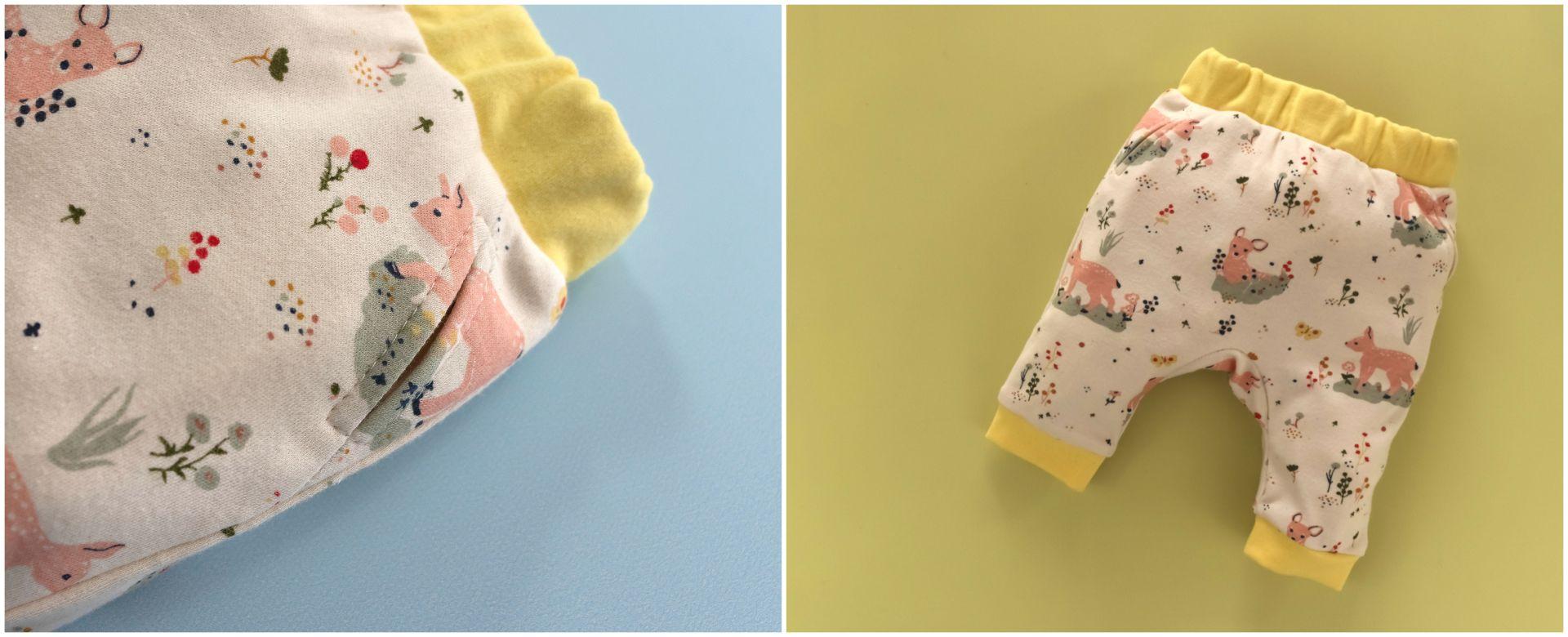 Baby Joggers | Romper | Dungies. Beginner PDF Sewing Pattern.<span>Birch organic cotton knit fabric baby joggers. Frocks and Frolics pdf sewing pattern.</span>