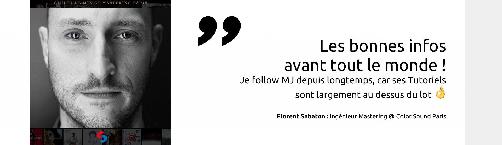 Florent Sabaton recommande MJ Tutoriels<span></span>