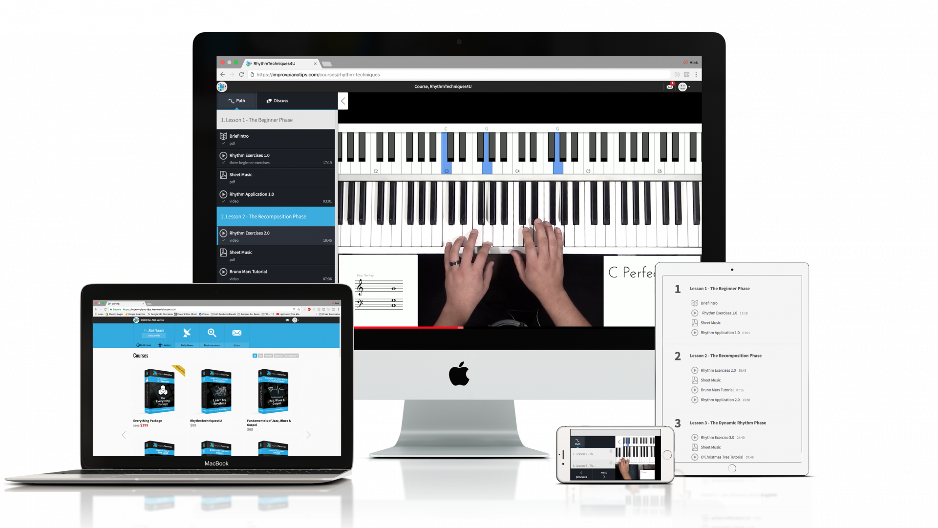 Improv piano tips customize a learning path below baditri Choice Image